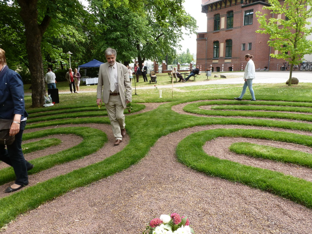 A New Turf Labyrinth At The University Hospital Of